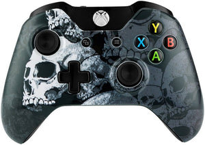Lone Skull Front Top Housing Shell Faceplate Case Cover for Xbox One Controller