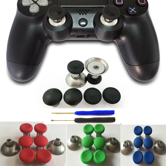 Enhanced Swap Metal Magnetic Thumbstick Joystick Thumb Stick Grip Caps For PS4/ Xbox One S/Elite Controllers