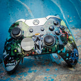 SKULL Style Top Front Shell Faceplate Case Cover for Xbox One Elite
