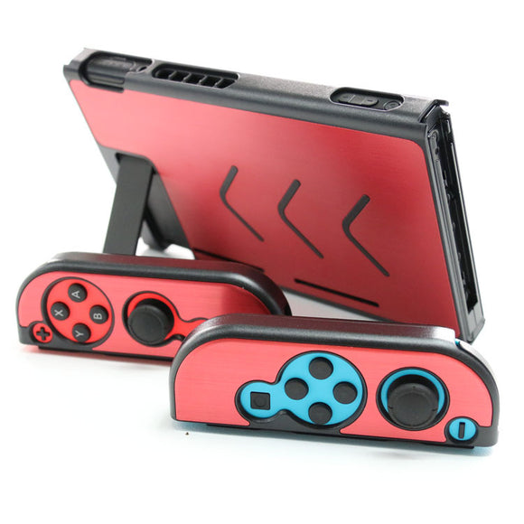 Aluminum Metal Protection Case Anti-scratch Protective Hard Shell Cover Housing for Nintendo Switch + Joy-Con Controller