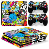 PS4 Pro Bomb Graffiti Style Vinyl Sticker Skin Cover Decal