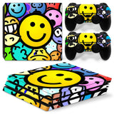 PS4 Pro Smiley Bomb Graffiti Style Vinyl Sticker Skin Cover Decal