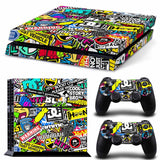 PS4 Bomb Graffiti Style Vinyl Sticker Skin Cover Decal