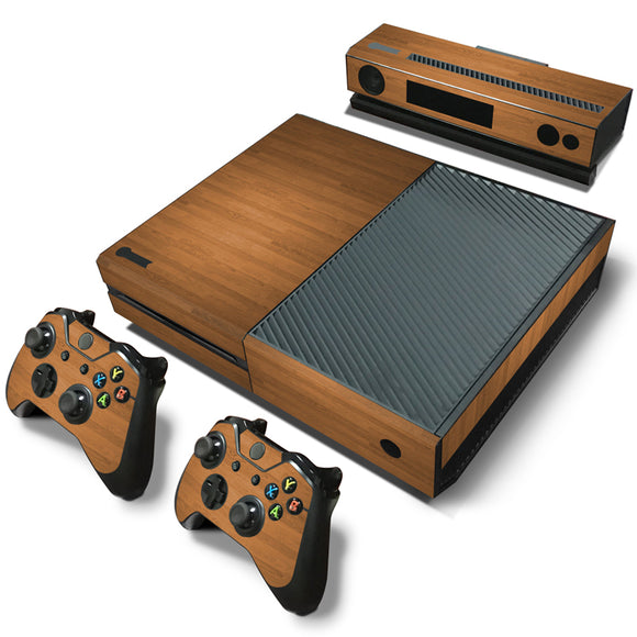 Brand New Wooden Decal Skin/Stickers Wrap for Xbox ONE Console + 2 Xbox ONE Controller skin + Kinect Skin Sticker