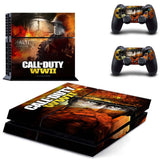 CALL OF DUTY:WWII Skin Sticker For PlayStation 4 Console with 2 controller Stickers