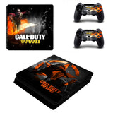 Call of Duty WWII  COD WWII PS4 SlimConsole Skin Sticker PS4 Slim Skin Sticker Decal Controller