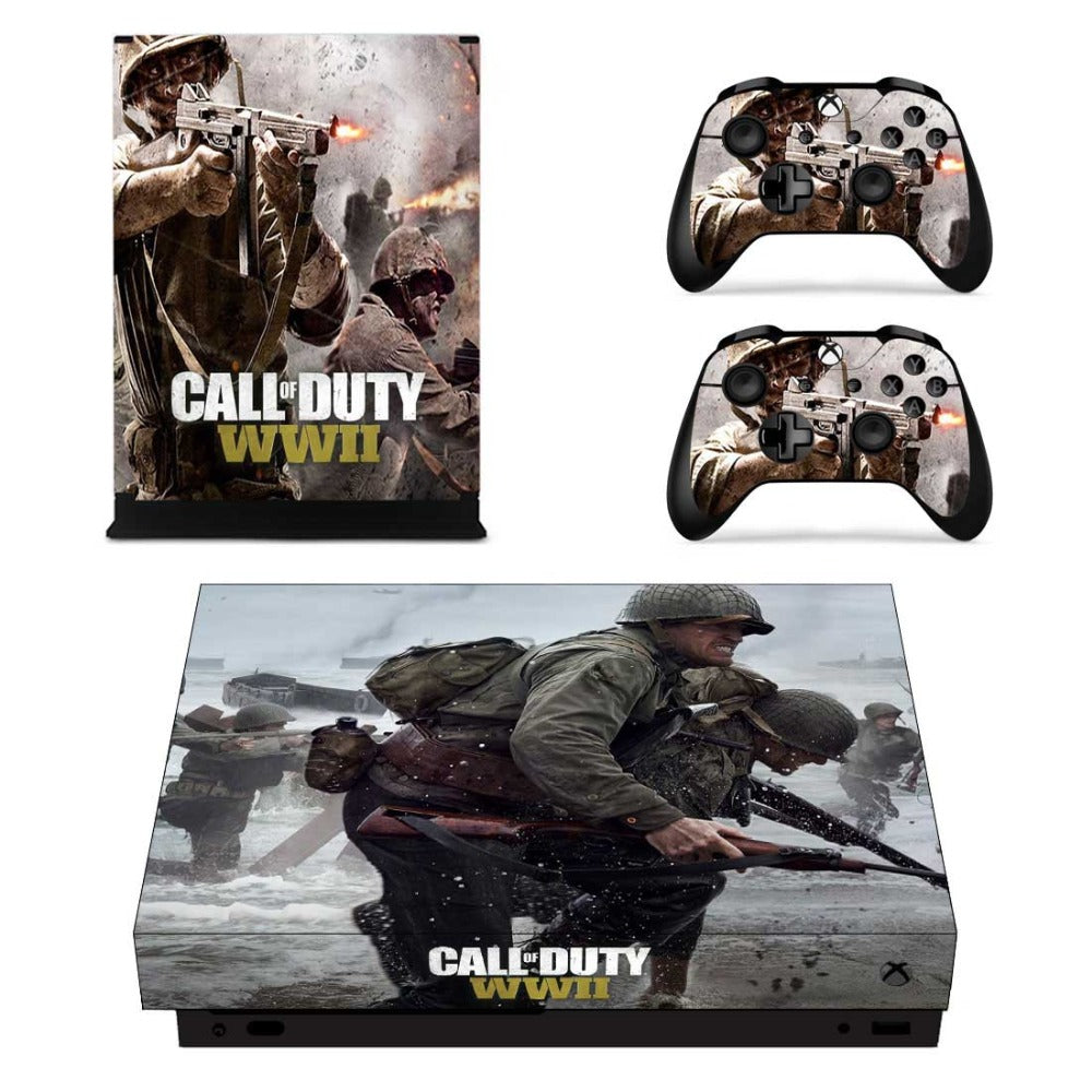 Video Game Accessories Xbox One X Cod Wwii Ww2 Skin Sticker Console Decal Vinyl Xbox One Controller