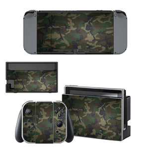Camouflage Stickers For Nintendo Switch Console Set
