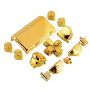 Chrome Gold Buttons Set For PS4 Dualshock 4 Controller