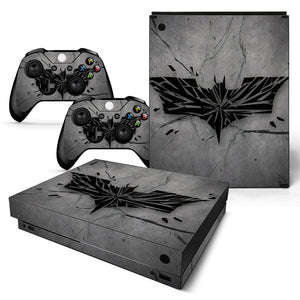 Batman Style Xbox One X Sticker with 2 Batman Controller Sticker