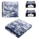 PS4 Slim Snow Camouflage Print Decal Skin