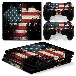 American Flag Skin Sticker Decal for PS4 Pro Console