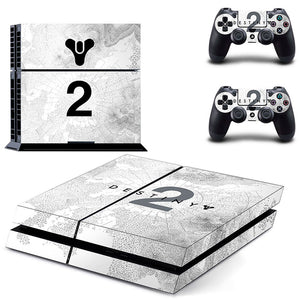 Destiny Theme Decal Skin Sticker for PS4 Console with 2 Controller Stickers