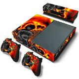 Ghost Skin Decal Sticker with 2 Pcs Controller Sticker for Xbox One Console