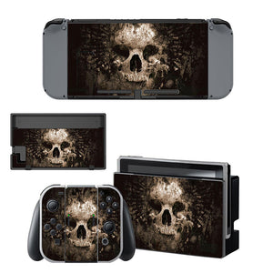 Skull Skins Sticker Decal Cover For Nintendo Switch Console And Controller
