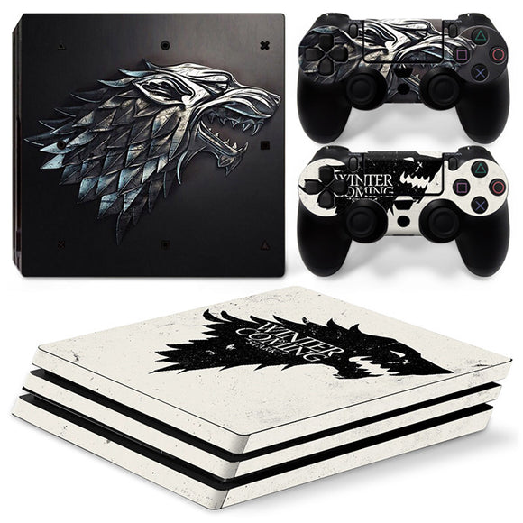 Winter is Coming Game of Thrones PS4 Pro Skin Sticker