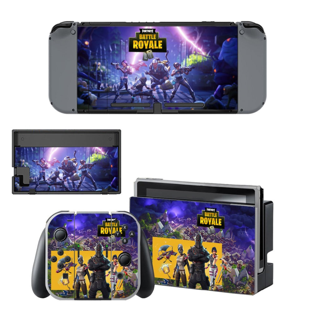 Fortnite Skin Sticker Wrap Set for Nintendo Switch Console Joy-Con Dock  Skins