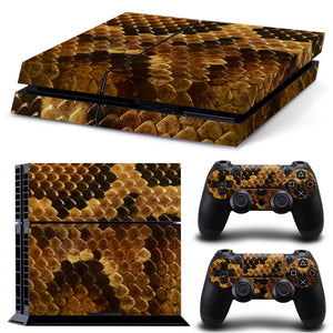 Snake Skin PS4 Console Skin Sticker Set