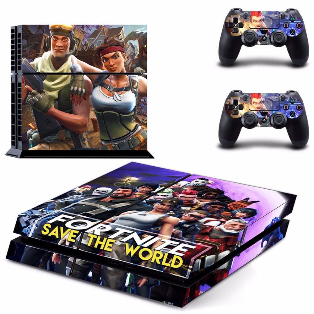Fortnite Theme Skin Sticker Decal For Sony PlayStation 4 Console and 2  Controllers PS4 Skins Sticker Vinyl