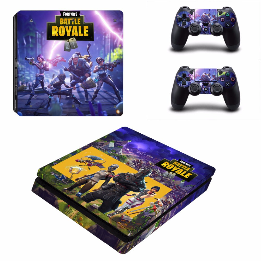 Fortnite Theme Skin Sticker For Sony Playstation 4 Slim