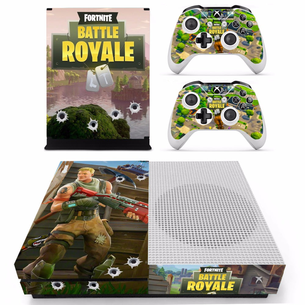Fortnite Theme Skin Sticker Decal For Xbox One Slim And 2 Controller
