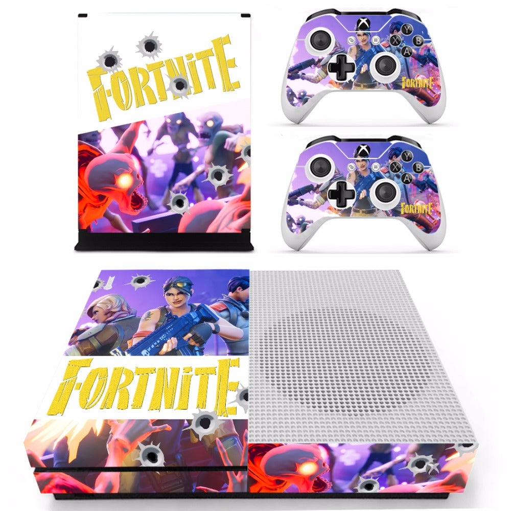 Fortnite Theme Skin Sticker Decal For Xbox One Slim And 2
