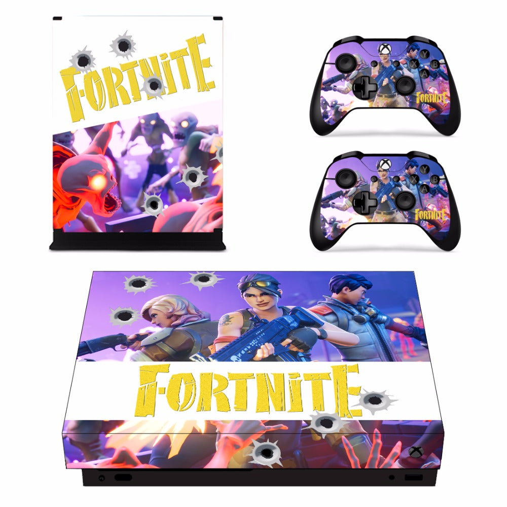 Fortnite Decal Skin Sticker Set for Xbox One X Console – The