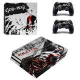 God of War PS4 Pro Skin Sticker Cover For Sony PlayStation 4 Console and 2 Controllers PS4 Pro Stickers Decal Vinyl