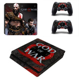 God of War PS4 Slim Skin Sticker For Sony PlayStation 4 Console and 2 Controllers PS4 Slim Stickers Decal Vinyl 8