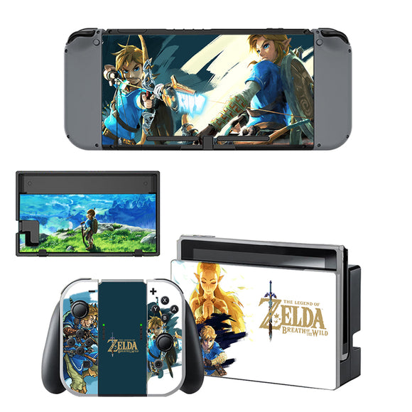Zelda Skin Sticker for Nintendo Switch Console and Controller