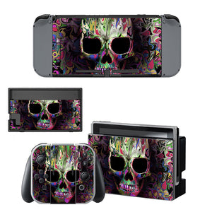 New Skull Vinyl Decal Cover For Nintendo Switch Console Skin Sticker