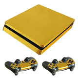 Gold Plated PS4 Slim Skin Stickers