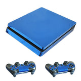 Blue PS4 Slim Skin Stickers