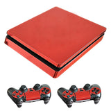 Red Plated PS4 Slim Skin Stickers
