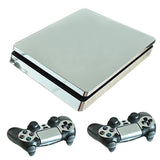 Sliver Plated PS4 Slim Skin Stickers