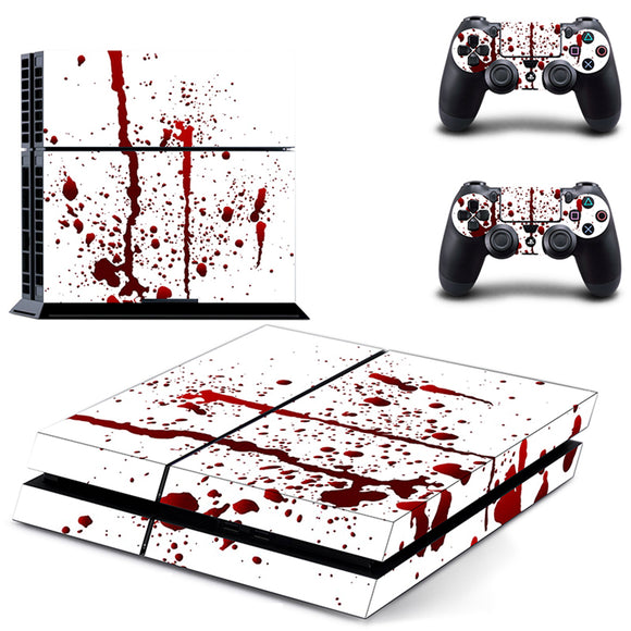PS4 Console Blood Stain Skin Decal Cover