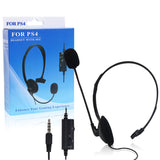 Headphone Microphone Volume Control Headset for SONY PlayStation 4/Slim/Pro Dualshock 4 Controller