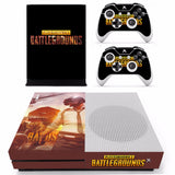 PlayerUnknown's Battlegrounds Style Skin Sticker Decal for Microsoft Xbox One S Console.