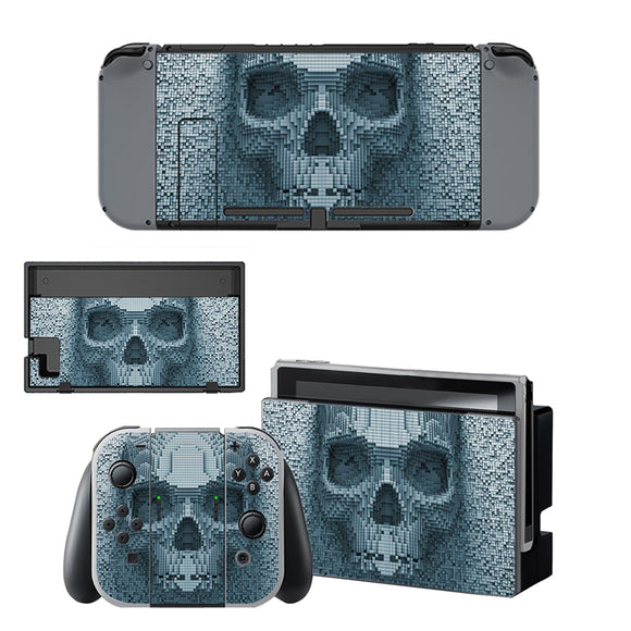 Skull Decal For Nintendo Switch Console Controller Skin Sticker Game