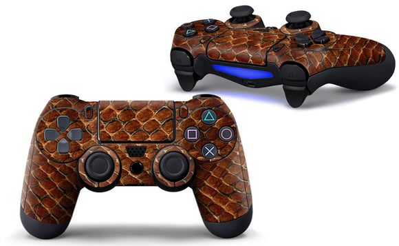 Snake Skin Style Skin Sticker For PS4 Wireless Controller