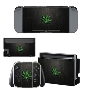 Green Grass Style Skin Sticker for Nintendo Switch Console Set
