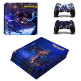 Fortnite Mares PS4 Pro Console Stikcers set