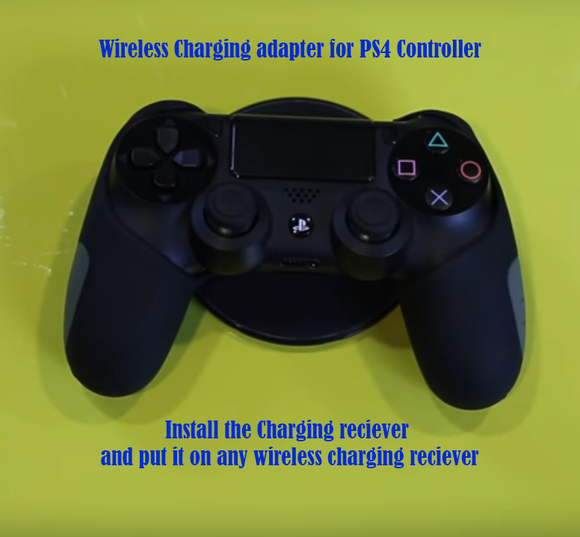 Wireless Charger Compatabile with Wireless Charging Adapter for PS4 Dualshock 4 Controllers