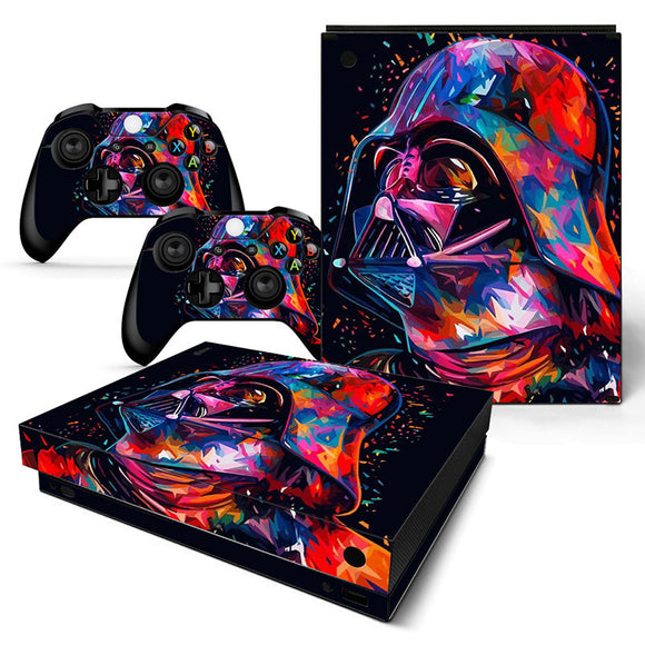 Star wars: Battle Front Skin Sticker with 2 Controller Sticker for Xbox One X Console