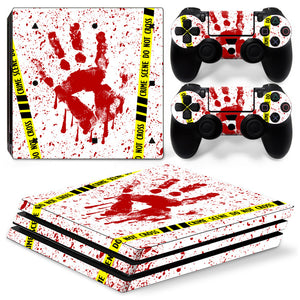 Blood Fingerprint Skin for PS4 Pro