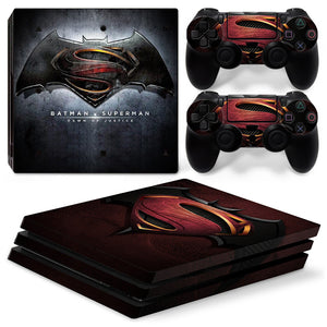 Batman Vs Superman theme Skin Sticker Decal Set for Playstation PS4 Pro Console Set