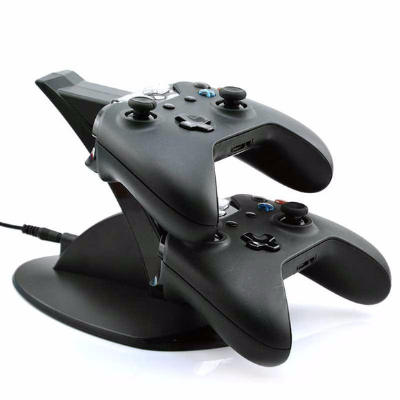 Black Dual Charging Dock Station for Xbox One Controller