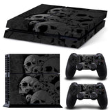 Skull Style PS4 Console Sticker Skin Vinyl set