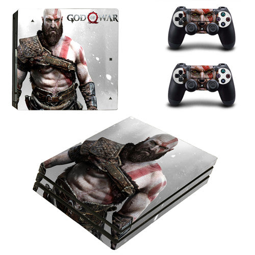 God of War PS4 Pro Skin Sticker For Sony PlayStation 4 Console and 2 Controllers PS4 Pro Stickers Decal Vinyl