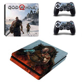 God of War PS4 Slim Skin Sticker For Sony PlayStation 4 Console and 2 Controllers PS4 Slim Stickers Decal Vinyl 6